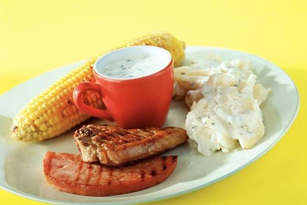 mixed grill with corn