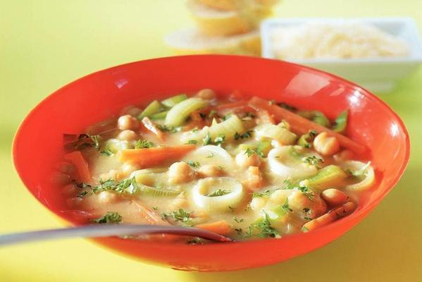 summer chickpea soup