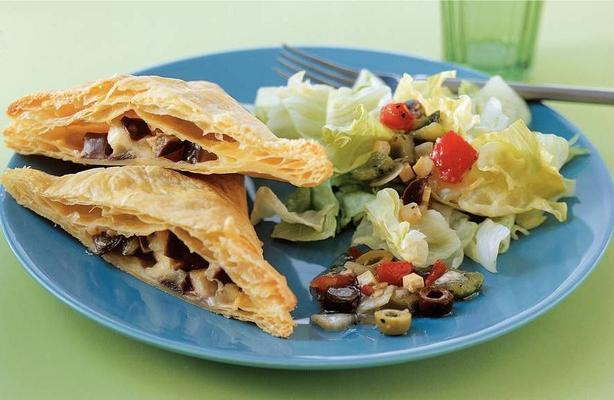 greek packages with salad