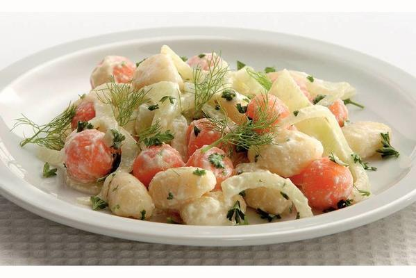 gnocchi with fennel and cheese-mustard sauce
