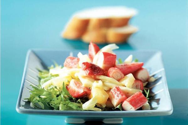 fresh salad with surimi