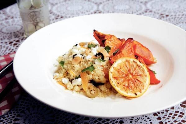 pumpkin couscous from the oven
