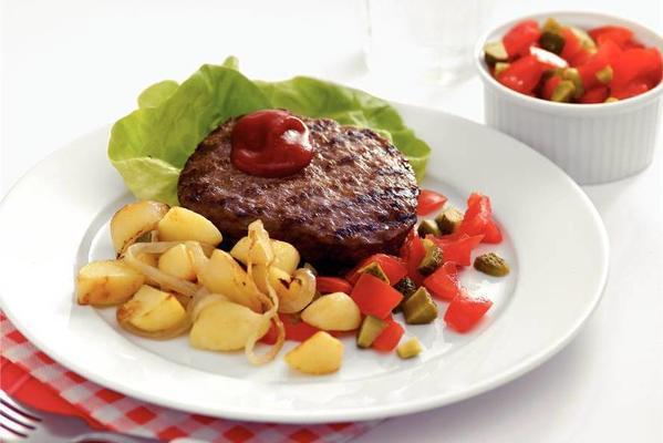hamburgers with salsa