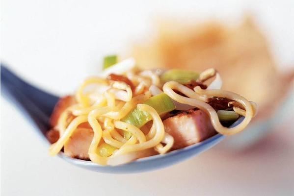 mie with sweet and sour sauce