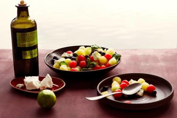 melon salad with goat's cheese