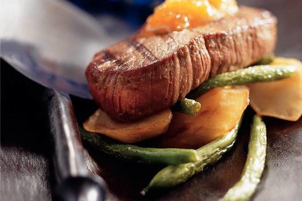 ostrich braai with apricot sauce