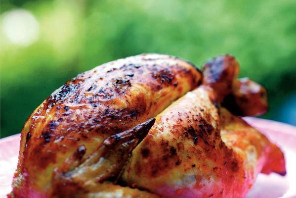 chicken with tandoori herbs