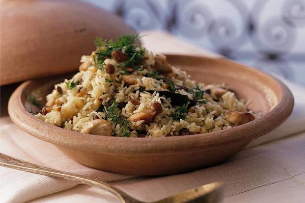 pilaf rice with chicken