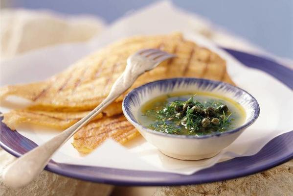 grilled sole with caper sauce