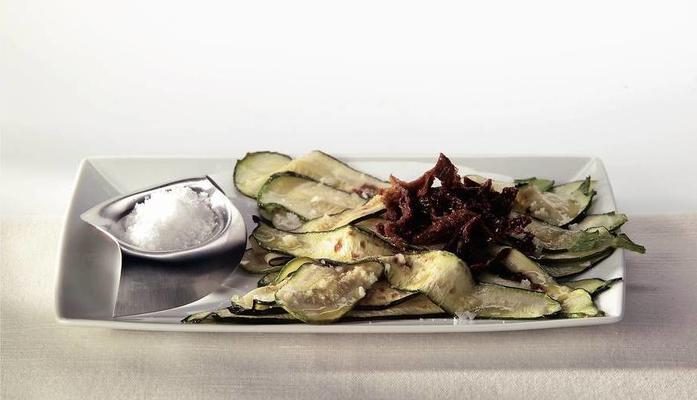 salad of grilled courgettes