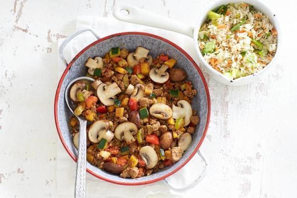 Italian stir fry with vegage chop