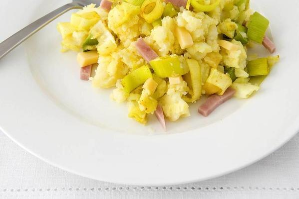 ham cheese stew with leek