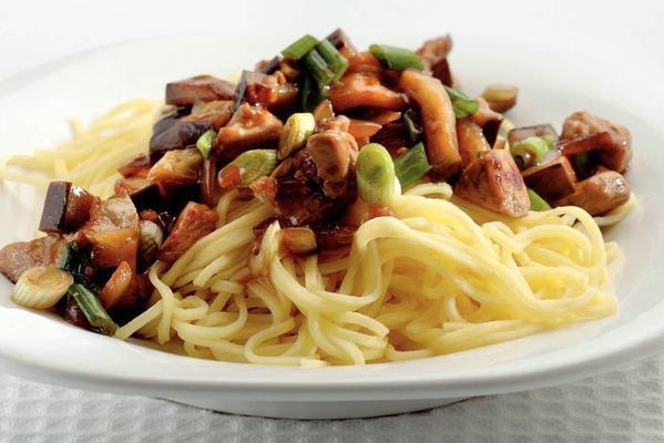 wok dish of eggplant and pork