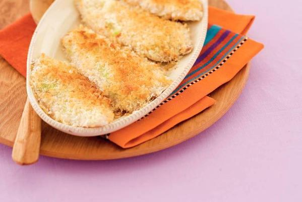 tilapia from the oven with wasabi crust