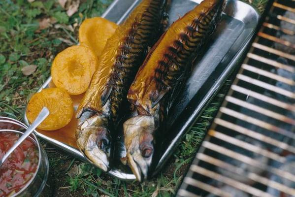 smoked mackerel with badjak sauce