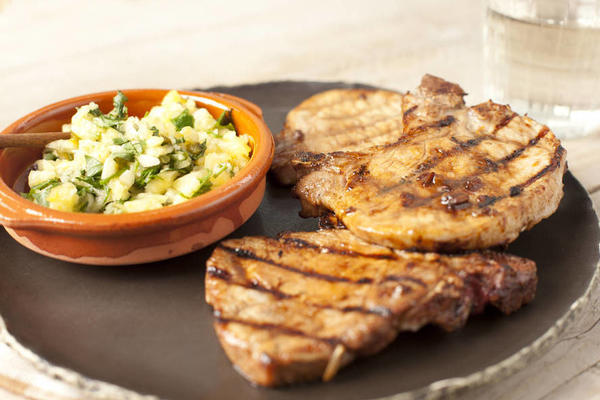 chops with apricot ginger glaze