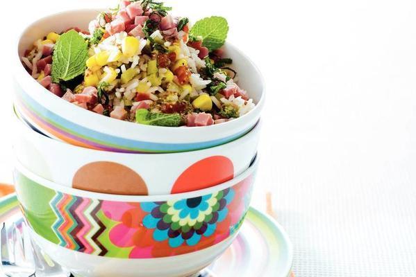 fresh rice salad