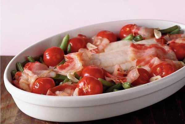 casserole with cod and green beans