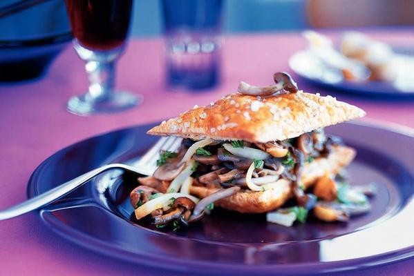 crunchy mushroom sandwich