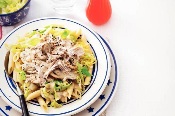 creamy turkey breast and pointed cabbage