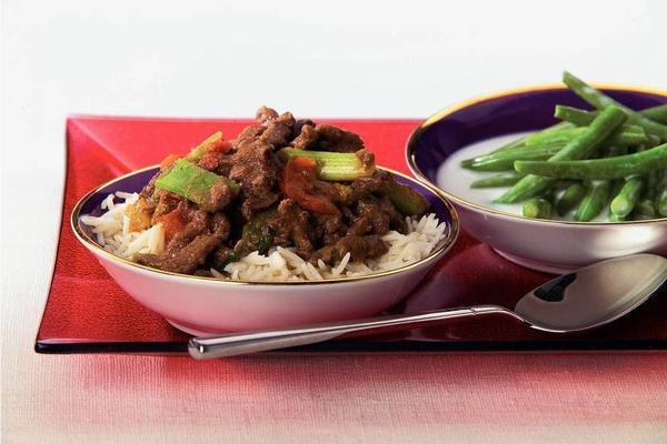 beef curry with coconut beans