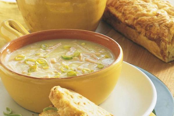 Creamy leek soup
