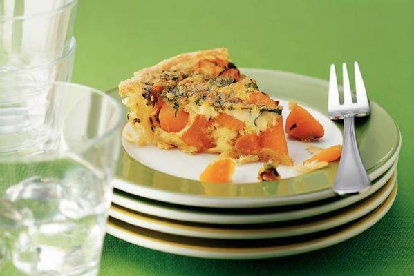 spicy pumpkin quiche with coriander