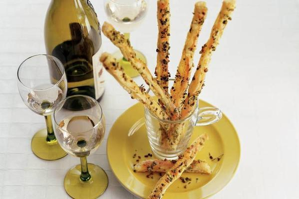 crunchy cheese sticks with nuts