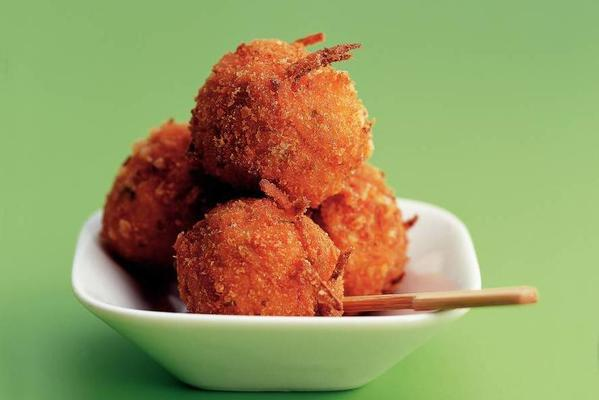 carrot cheese balls with red pepper