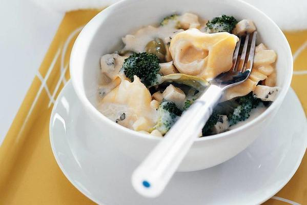 tortellini cheese dish from the microwave