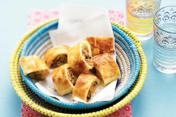 sausage rolls with shiitake