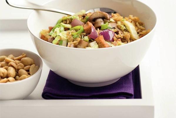 mushroom stir-fry dish