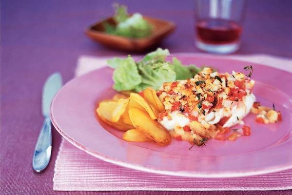 cod with tomato from the oven