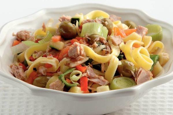 tagliatelle with tuna and olives