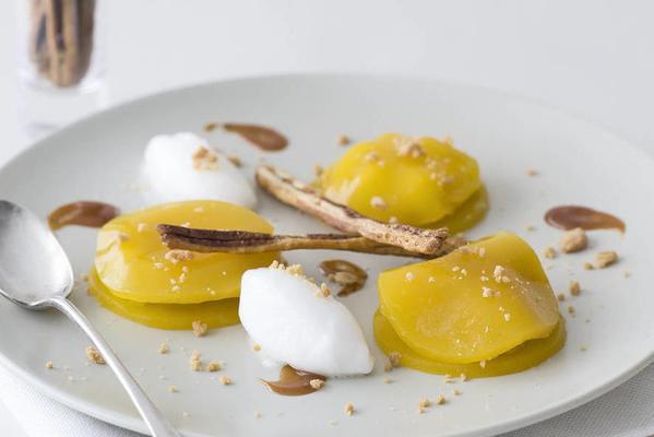 ravioli of mango and apple