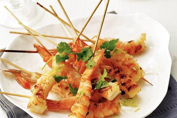 Fried Shrimp With Lime Dressing