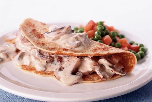 pancake with mushrooms