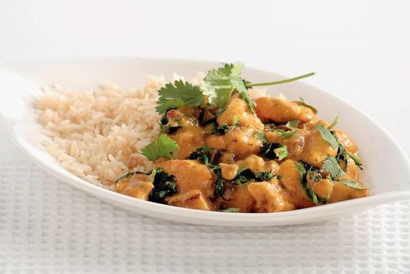Indian chicken korma with rice