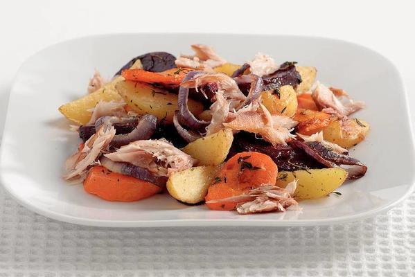 potato dish with smoked mackerel