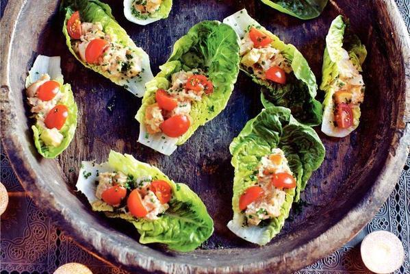 rash caesar salad with tuna-mayo sauce