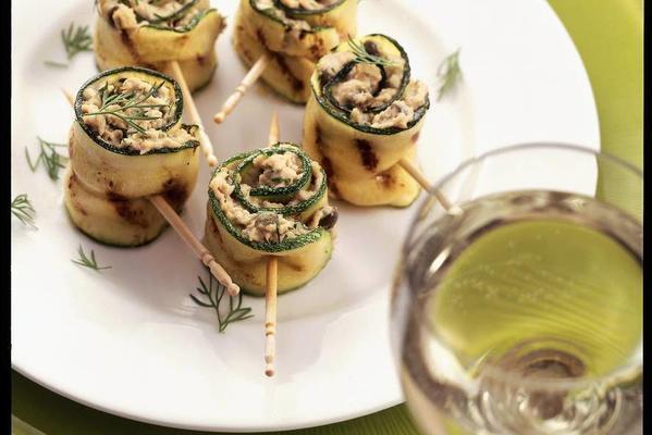 Zucchini Rolls With Tuna