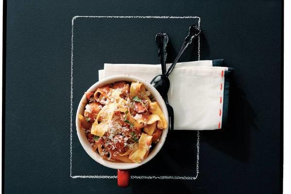 pappardelle with spicy sausage