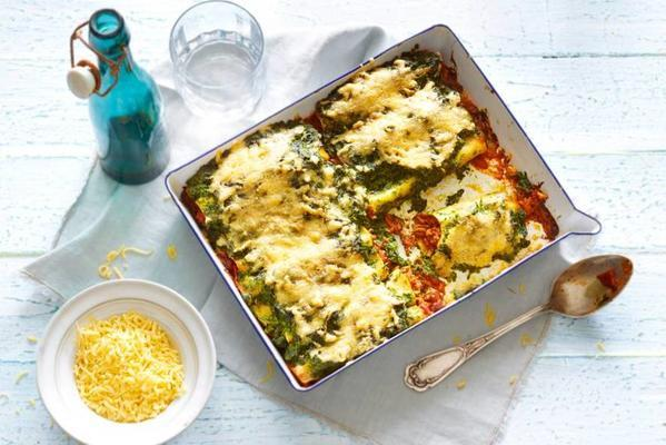 richly filled cannelloni with minced meat