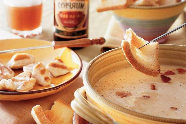 English cheese fondue