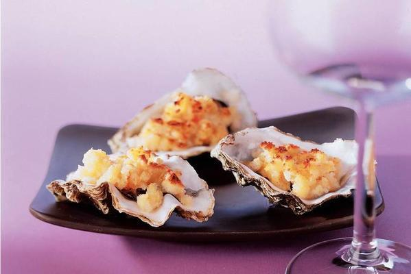 spicy gratinated oysters