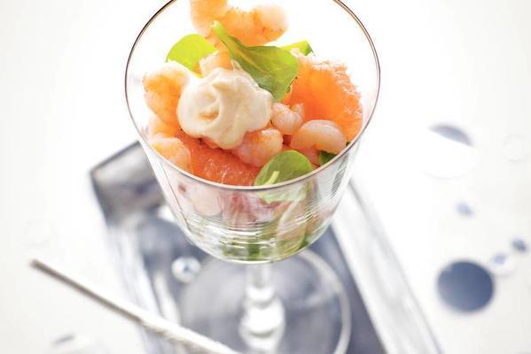shrimp cocktail with grapefruit