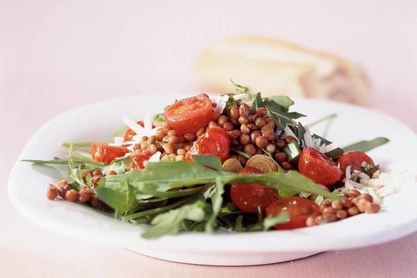lukewarm lentil salad