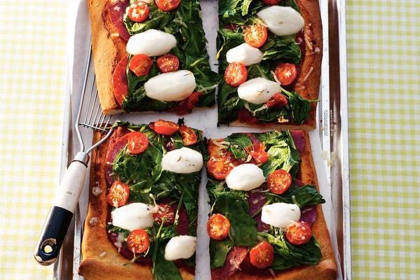 three-color pizza