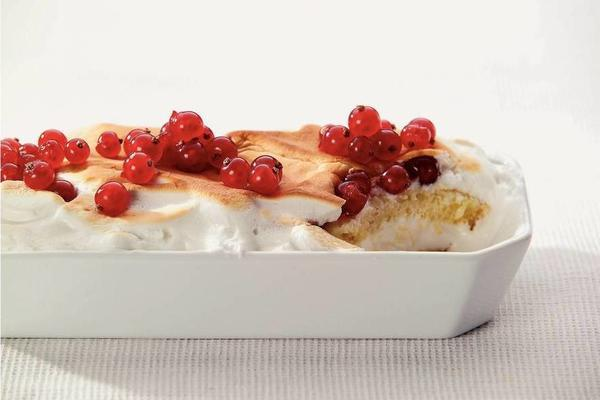 ice cream with red berries