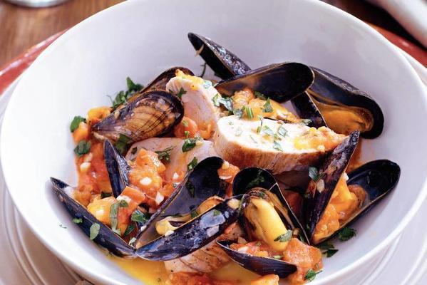 pork tenderloin with mussels and garlic